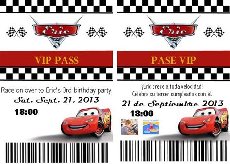 cars invitation cards templates disney cars birthday invitations