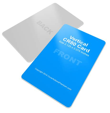 vertical cr80 credit card mock up cover actions premium