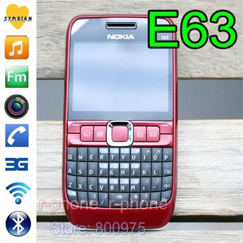 Hp Nokia Qwerty E63 100 original nokia e63 mobile phone 3g wifi bluetooth qwerty keyboard unlocked e63 one year jpg