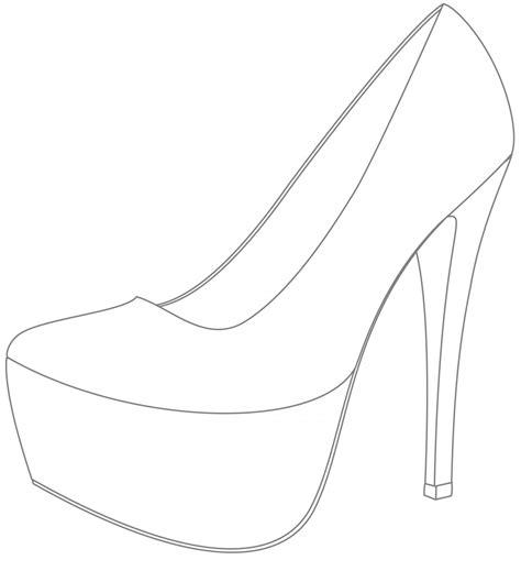90 High Heel Shoe Template Printable Flat Shoe Template To Print Printable Free High Heel Heel Design Template