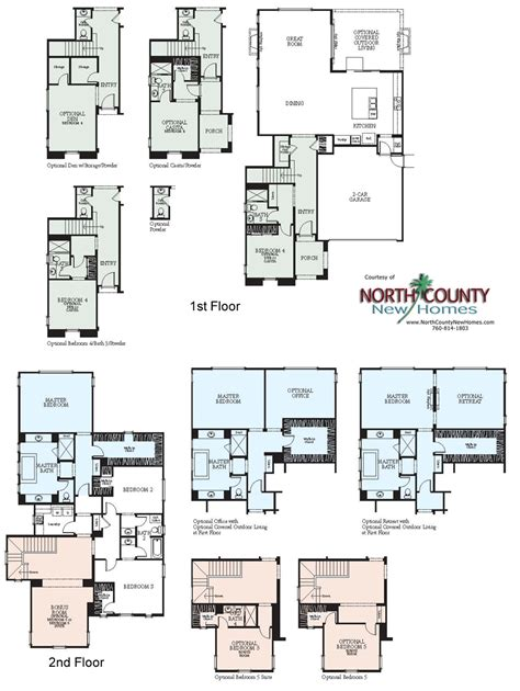 new home floorplans westerly at rancho tesoro new home floor plans north