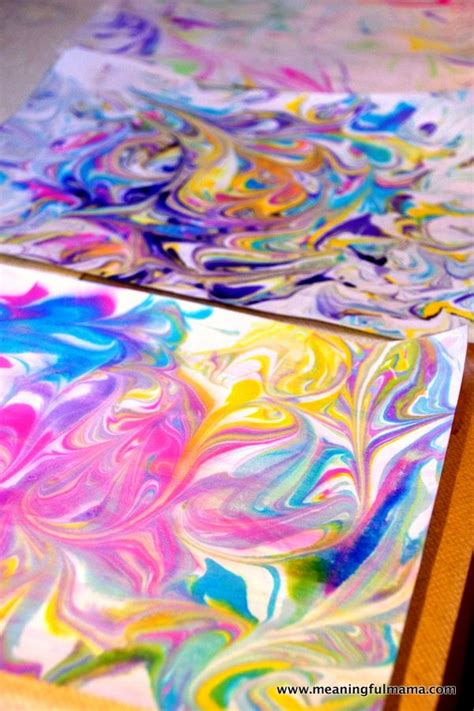 Marbled Paper Craft - 25 best ideas about painting on