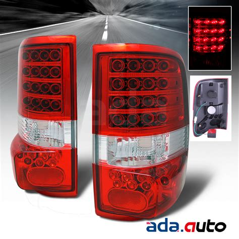 2008 f150 tail lights 2004 2008 ford f150 red lens led tail lights brake ls