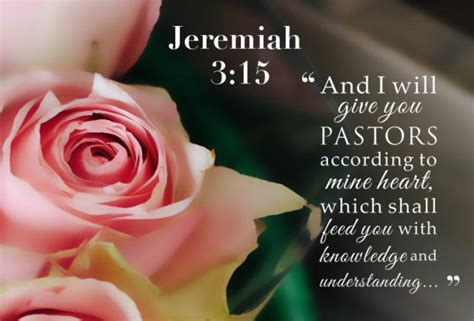 Jeremiah 3:15   And I will give you pastors according to