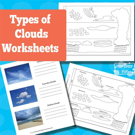 Cloud Types Worksheet by 31 Days Of Read Alouds Cloudy With A Chance Of Meatballs
