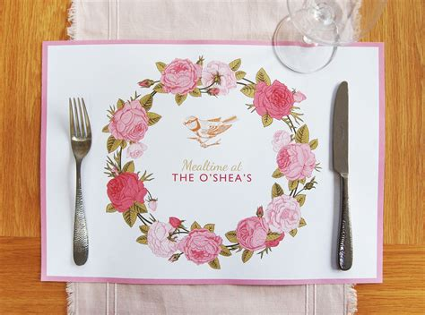 Disposable Paper Shower Mats - personalised paper placemats 10 25 or 40 mats