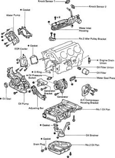 98 camry engine diagram how to replace the pan on all 1997 2000 toyota camry
