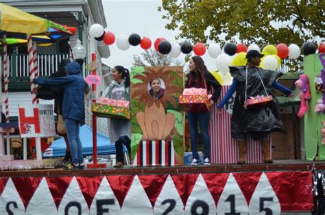 themes for a carnival float town of herndon holds homecoming parade