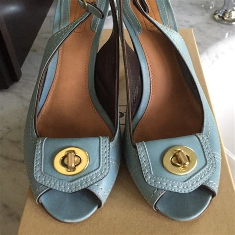 baby coach shoes 74 coach shoes baby blue coach turn lock sandals