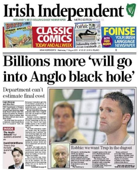 corporate tax the 240bn black hole ftcom wednesday newspaper review irish business news and