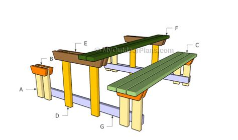 diy picnic table with detached benches picnic table with detached benches plans myoutdoorplans