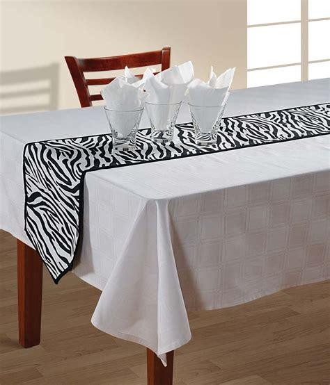 Zebra Print Table L Swayam Zebra Print Table Runner Small Buy Swayam Zebra Print Table Runner Small At