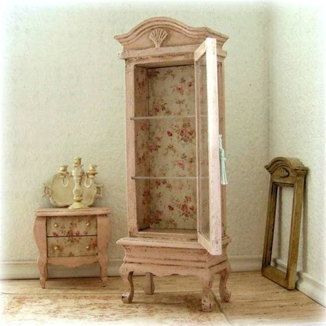 shabby chic dollhouse furniture 25 best ideas about wooden display cabinets on wooden pillars partition design and