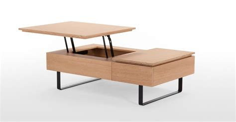 functional coffee table flippa functional coffee table with storage oak made com