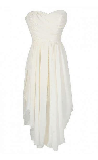 Strapless Chiffon Midi Dress strapless chiffon and lace midi dress in ivory