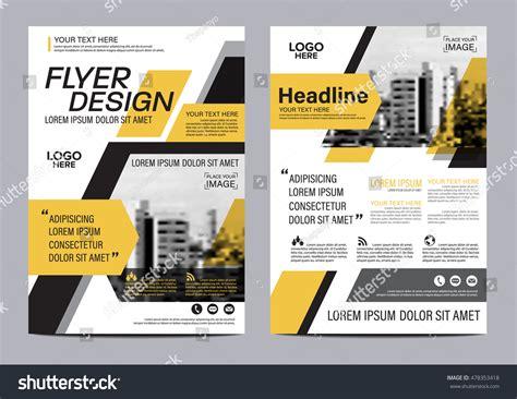 modern layout yellow flat modern brochure layout design stock vector