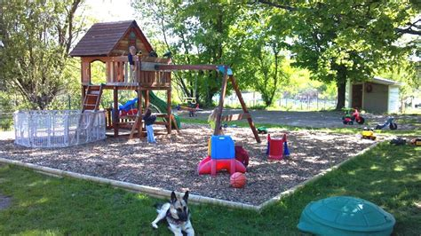 play area for kids in backyard the outdoor play area for the kids 1 acre fenced in yelp