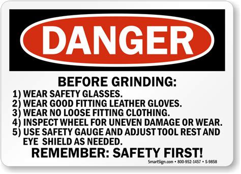 bench grinder safety grinder safety signs wear face shield eye protection