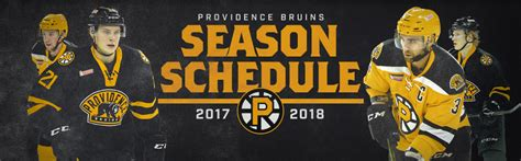 providence bruins 2017 2018 regular season schedule
