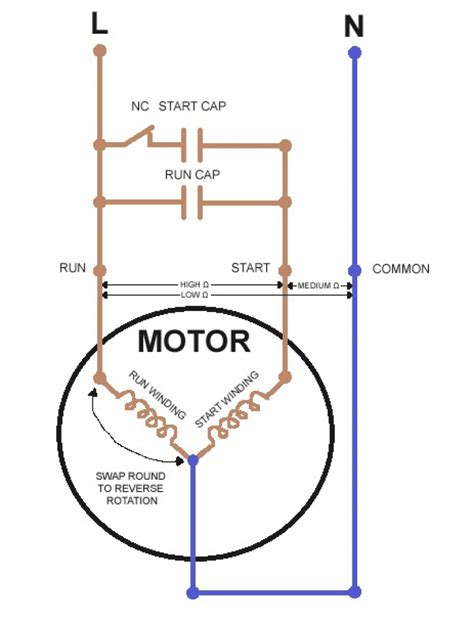 220v single phase motor wiring diagram circuit and