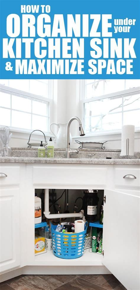 organize kitchen sink how to organize your kitchen sink for less