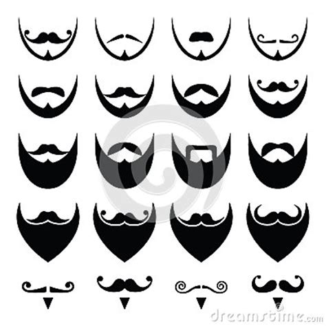 moustache stock images royalty free images vectors beard with moustache or mustache icons set stock illustration image 38808746