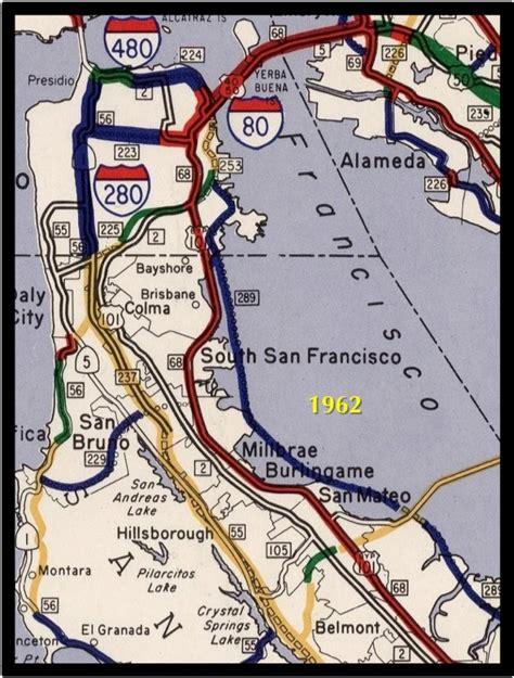 san francisco freeway map timerider sf bay interstate edition burrito justice