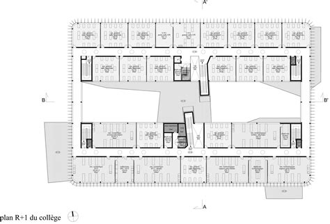 Layout Of Floor Plan gallery of anne de bretagne secondary school philippe