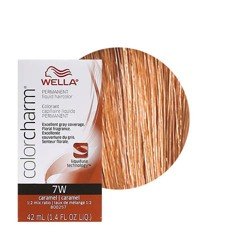 wella hair color reviews wella color charm liquid creme hair color 7w caramel