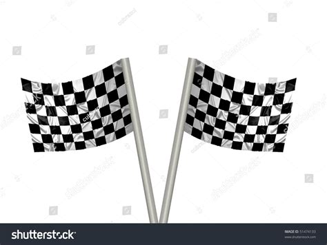 f1 pattern stock two f1 flags with checkered pattern stock photo 51474133