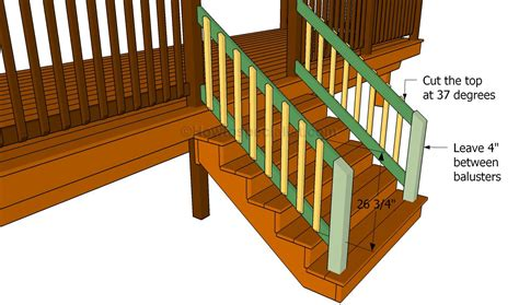 Building A Banister On A Staircase How To Build Deck Stair Railing