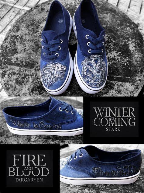 of thrones slippers chaussures customis 233 es peintes