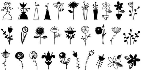 flower doodle fonts bundle of 6 whimsical doodles fonts only 27 mightydeals