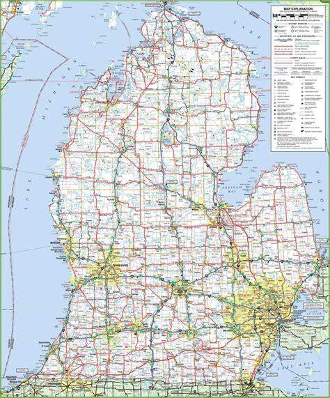 Map of Lower Peninsula of Michigan