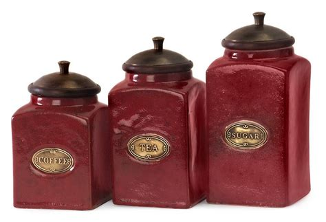 colorful kitchen canisters sets kitchen canister sets in red color homesfeed