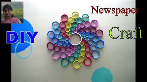 latest wall decoration idea newspaper wall hanging