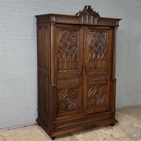 gothic armoire 19th century french walnut gothic armoire for sale at 1stdibs