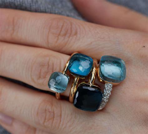 pomellato ring nudo pomellato nudo petit blautopas ring kaufen brogle