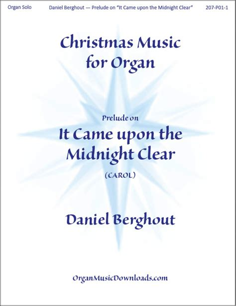 It Came With Upon Midnight Clear By Suzanne Brockman berghout daniel it came upon the midnight clear organmusicdownloads