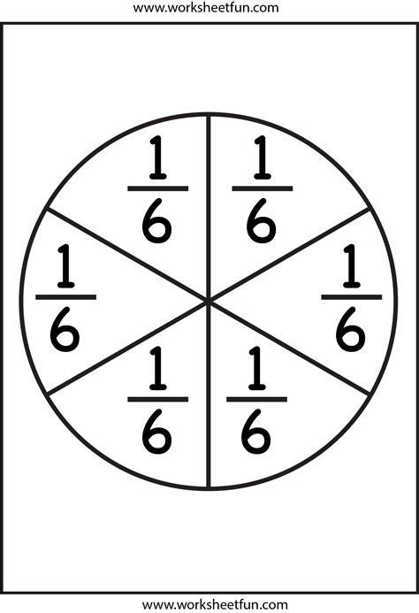 fraction circles template printable fraction circles