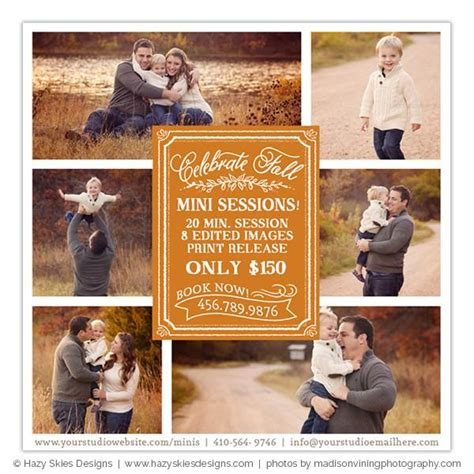 Fall Mini Session Advertisement Celebrate Fall Photography Advertisement Template