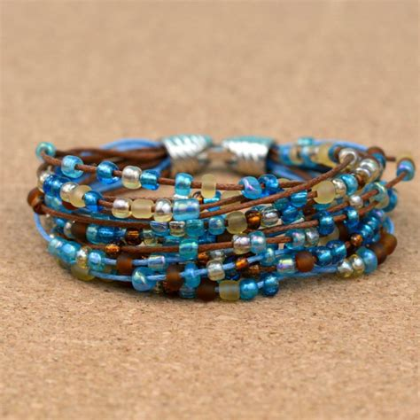 easy boho beaded bracelet happy hour projects