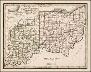 Indiana Ohio Map by Indiana Amp Ohio Barry Lawrence Ruderman Antique Maps Inc