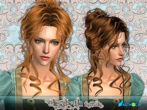 the sims 2 downloads fringe hairstyles newsea sims2 hair yu067f elisabeth