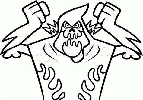 how to draw lord hater from wander over yonder step by