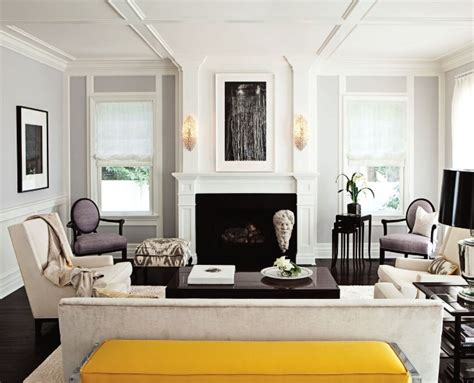 Yellow Gray And Purple Living Room Yellow Bench Transitional Living Room Jackson Page