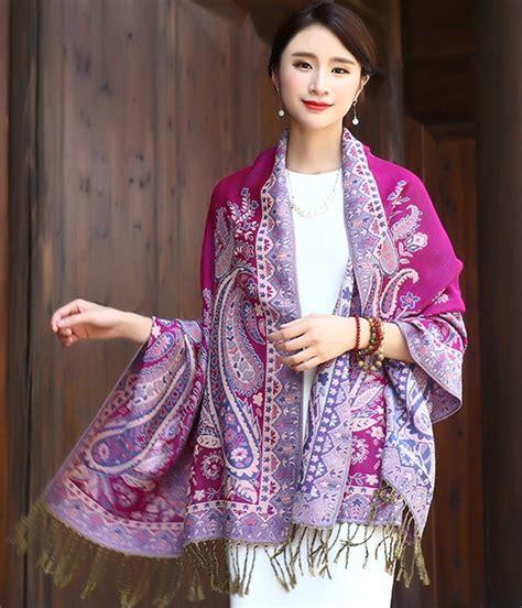 Kemeja Fashion Import With Syal high quality syal import jy58393 violet tamochi