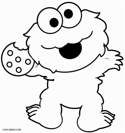 monster eyes coloring page printable cookie monster coloring pages for kids