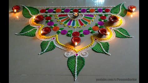 beautiful and unique multicolored rangoli design diwali deepwali rangoli beautiful rangoli designs t