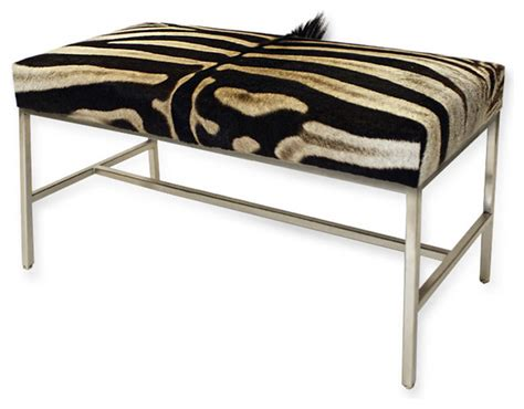zebra print storage bench zebra hide bench eclectic upholstered benches